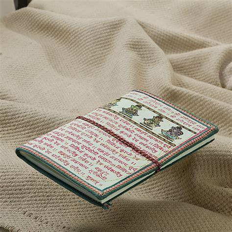 Printing On Handmade Paper - ganesha print handmade recycled paper travelers diary 20
