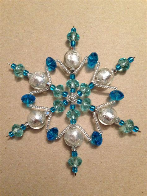 how to make a beaded snowflake bead snowflake ornament pretty gy 246 ngy 246 m