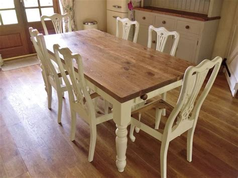 shabby chic table chunky pine google search table refurb pinterest pine shabby chic