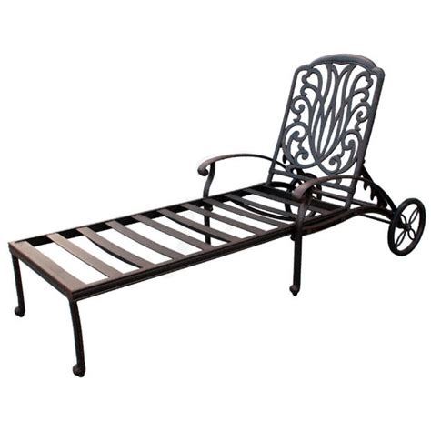 Chaise Patio Furniture by Patio Furniture Chaise Lounge Cast Aluminum Lisse