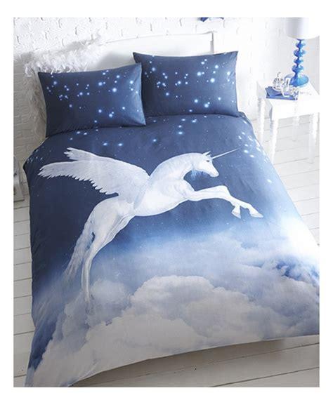 unicorn single duvet cover  pillowcase set bedroom