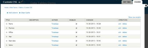 drupal theme table data tables for drupal by templago codecanyon