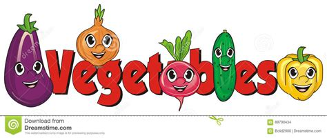 l word vegetables faces of vegetables with signs stock illustration image