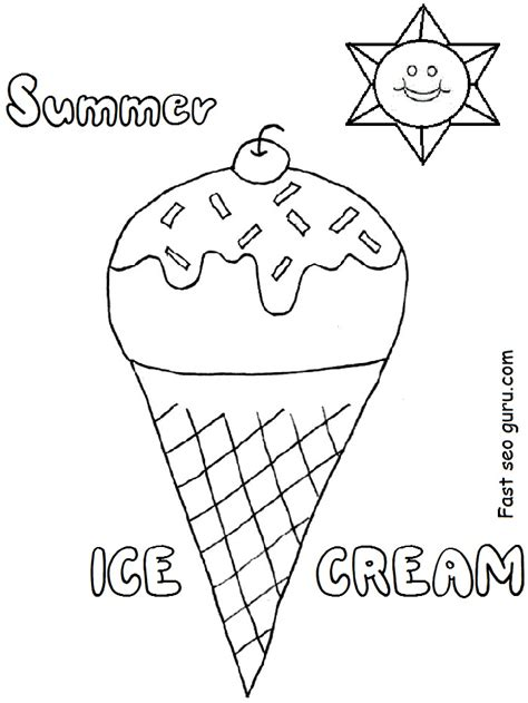 printable preschool summer activities ice coloring pages for preschoolers ice best free