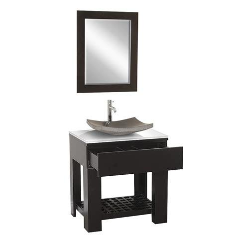 Zen Bathroom Vanities by 30 Quot Zen Single Vessel Sink Vanity Bathgems