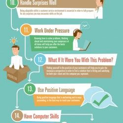 25 skills for excellent customer service visual ly