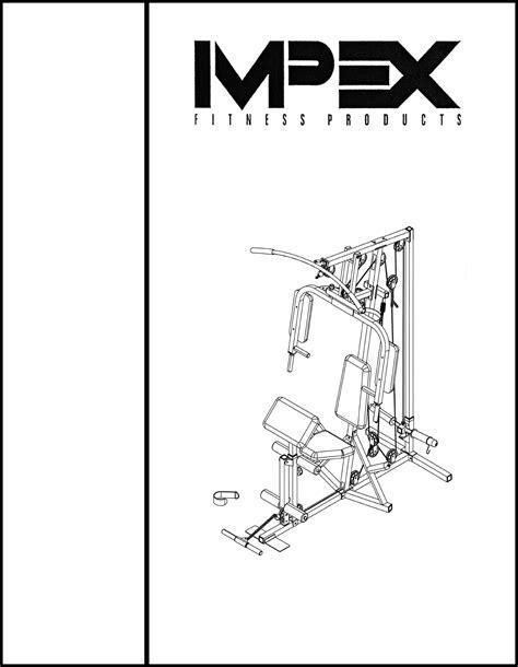 impex fitness equipment wm 1403 user guide manualsonline
