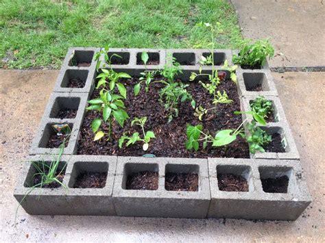 Cinder Block Vegetable Garden Cinder Block Vegetable Garden Ideas For The Garden