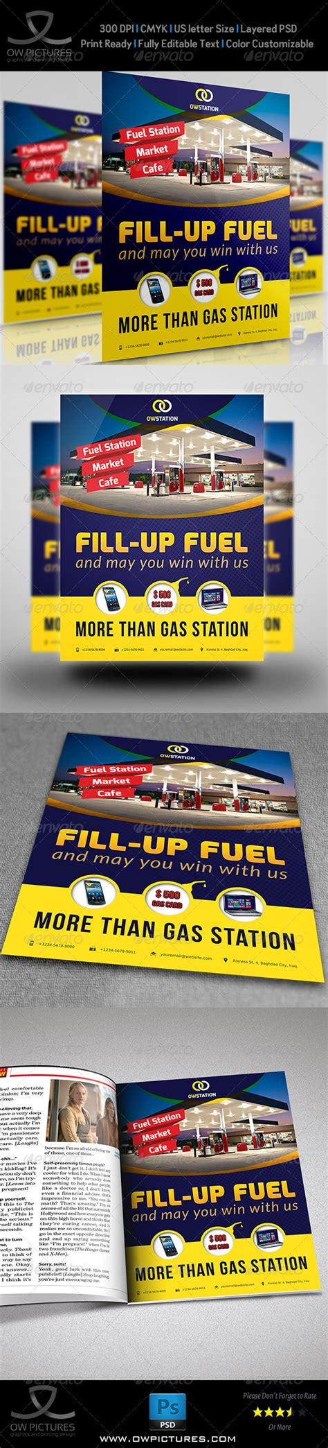 Gas Station Flyer Template Graphicriver Gas Station Website Template