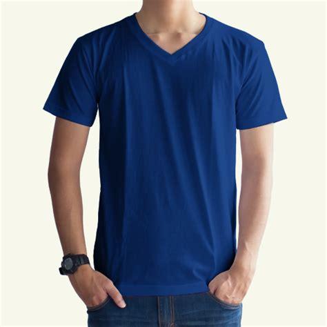 Kaos Polos Lengan Pendek Cowok Bodyfit Merah Marun Oneck kaos polos biru benhur v neck konveksi grosir distributor produsen kaos murah bandung