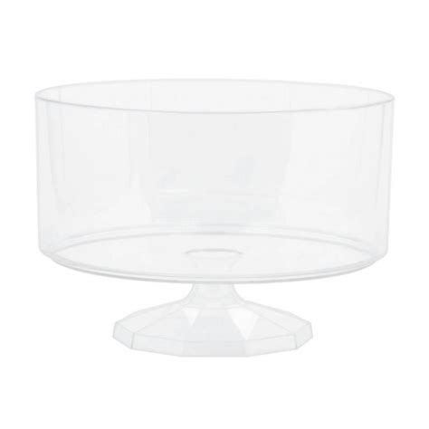 buffet containers plastic medium clear plastic trifle containers 19cm 6 pkg amscan international