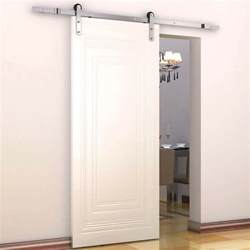 Track For Sliding Barn Door Homcom 6ft Modern Antique Steel Sliding Barn Wood Door Track Hardware Set Ebay