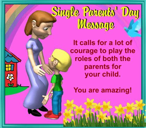 My Single Parents? Day Card. Free Single Parents' Day