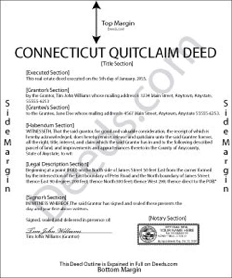 Fairfield County Connecticut Property Records Connecticut Quit Claim Deed Forms Deeds