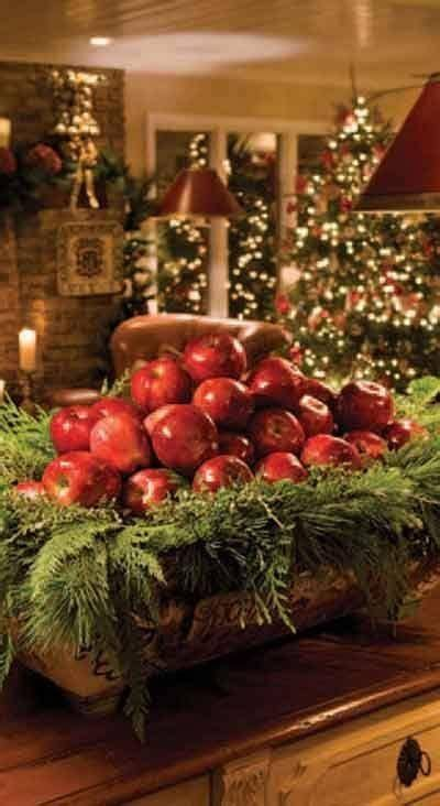 christmas home decor pinterest beautiful way to display apples christmas decorating