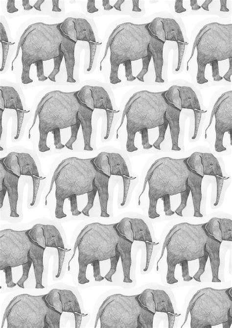 elephant pattern iphone wallpaper africa backgrounds black and white cute elephant