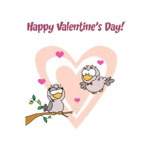 happy valentines day in characters happy day birds with backround