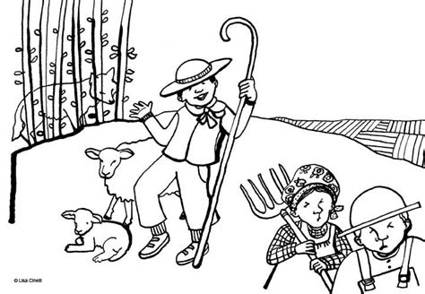 the boy who cried wolf coloring pages coloring home