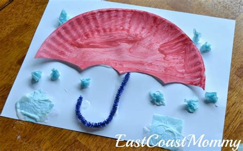 How To Make Umbrella With Paper Plate - umbrella paper plate craft allfreekidscrafts