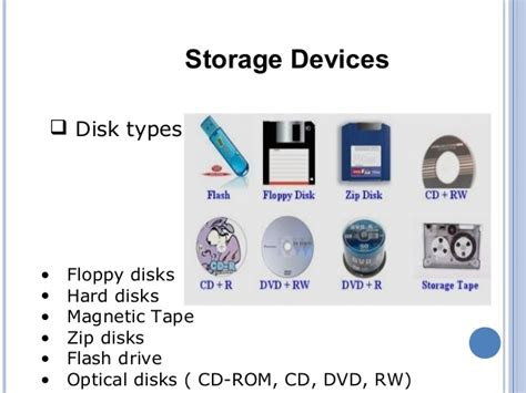 storage devices storage devices and its types
