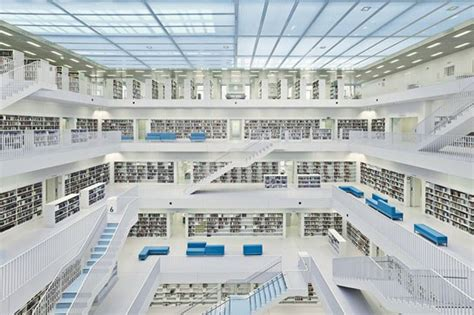 stuttgart library an illuminating library in stuttgart germany