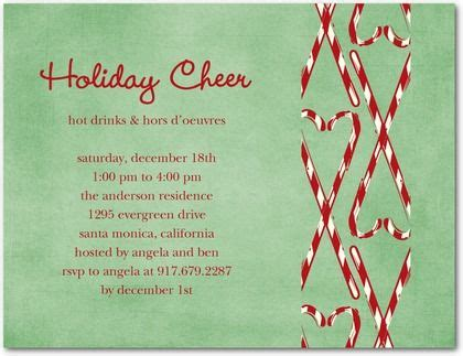 christmas themed poems a candy cane themed holiday party invite with a touch of