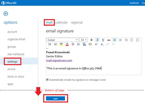 Office 365 Mail Change Signature How To Track Marketing Caigns In Email Signatures