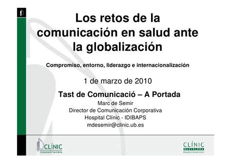 los retos de la comunicaci 243 n en salud ante la globalizaci 243 n