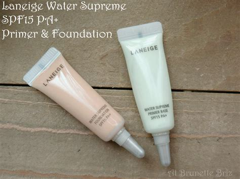 Laneige Water Supreme Foundation at briz laneige water supreme spf15 pa primer