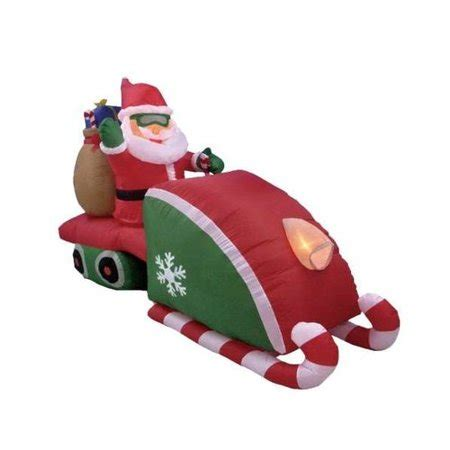 animated santa driving bzb goods santa claus driving snowmobile decoration walmart