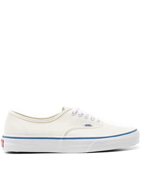 Vans Aucthentic Classic All White vans white authentic classic canvas skate shoes in white for lyst