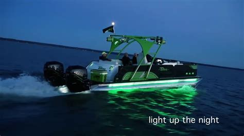 led boat lights pontoon 14 2017 tahoe pontoons led lights compilation youtube