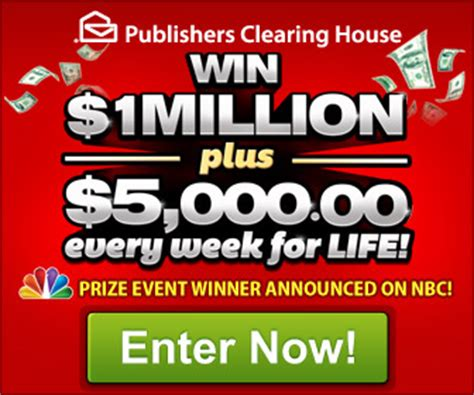 Publishers Clearing House Global Sweepstakes Email Lottery - pch win 1million 5000 every week for life