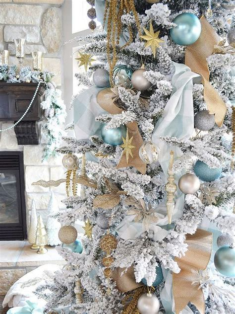 special tree decorations 30 dreamy flocked tree decoration ideas