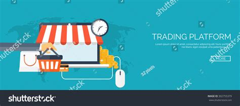 design your background online flat web shopping background internet store stock vector