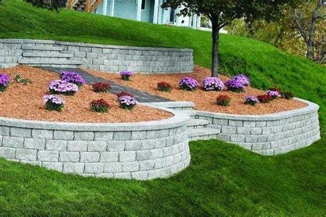 retaining wall around a c unit the home depot community