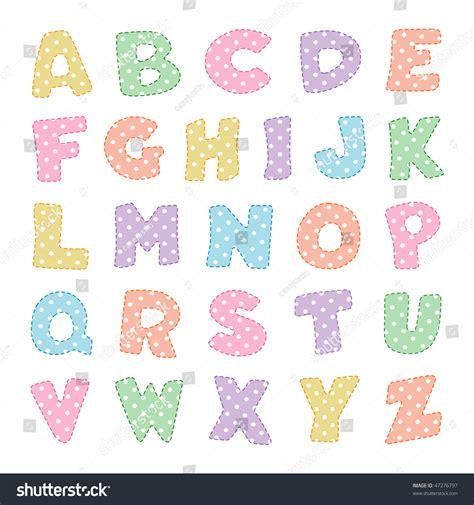 dot pattern alphabet alphabet pastel polka dot pattern stitching stock