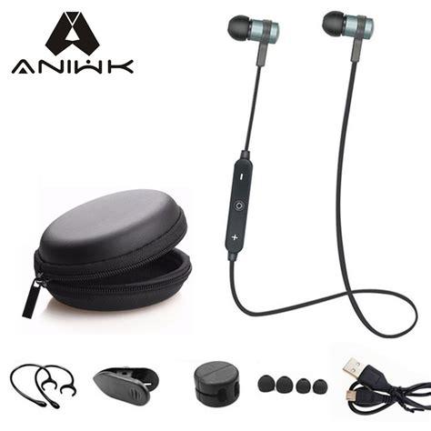 Headset Bluetooth Sport Bt 7 Mic Earphone Bluetooth Sport aniwk sport running bluetooth headset wireless earphone