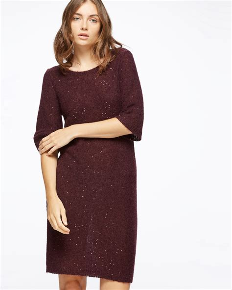 knit dress sparkle half sleeve knit dress jigsaw
