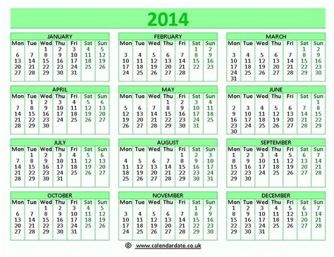 2014 calendar template with holidays 2014 calendar