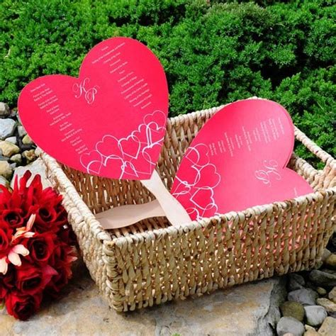 wedding program fans kit diy shaped wedding program fan kit