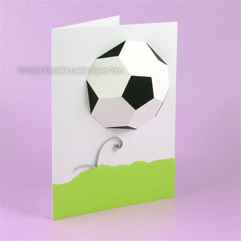 How To Make A 3d Football Out Of Paper - 17 best images about craft cards pop up multi fold