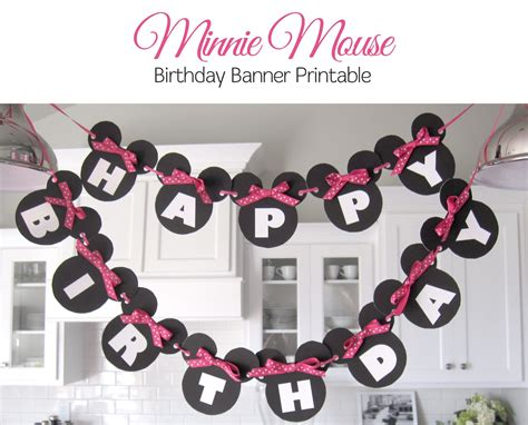 printable minnie birthday banner sugar fresh lily s minnie mouse party free banner printable