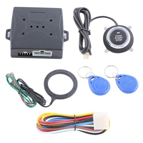 Alarm Motor Smart Key quality smart key rfid car alarm system with push button start transponder immobilizer engine