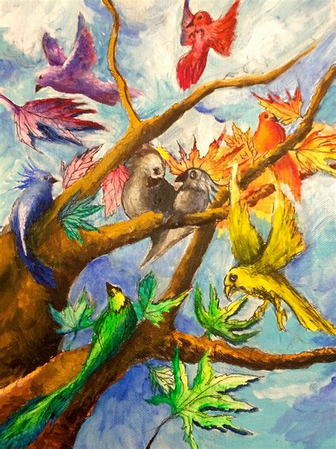 The Helpful Art Teacher Draw A Bird Day Steam In The Middle School Art Room Using Science Color Painting For
