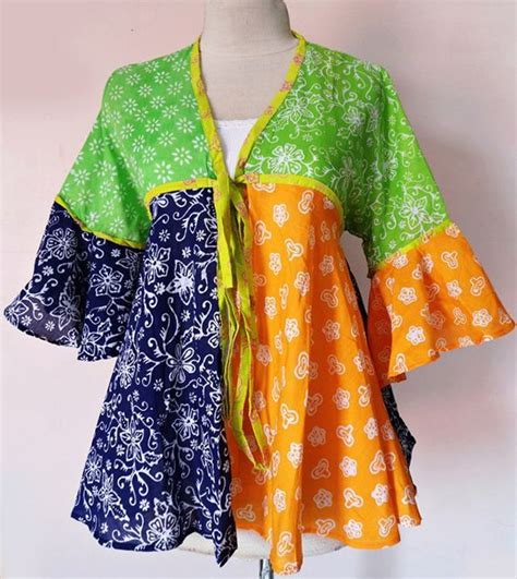 Atasan Kebaya Kode Rni 172 cardigan batik kerja modern giska 09 baju kerja batik