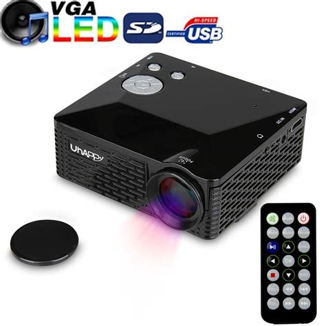 Mini Portable Hd Led Projector Pc Laptop Kode portable hd led mini projector home theater cinema pc laptop vga usb av black us ebay