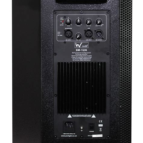 W Audio Active Speakers by W Audio Sm12a Active Stage Monitor Each