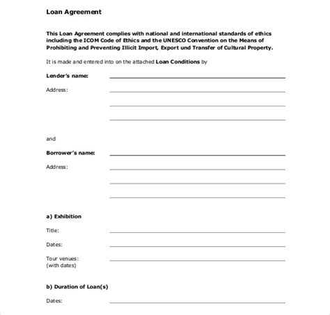 free business loan agreement template loan contract template 25 exles in word pdf free