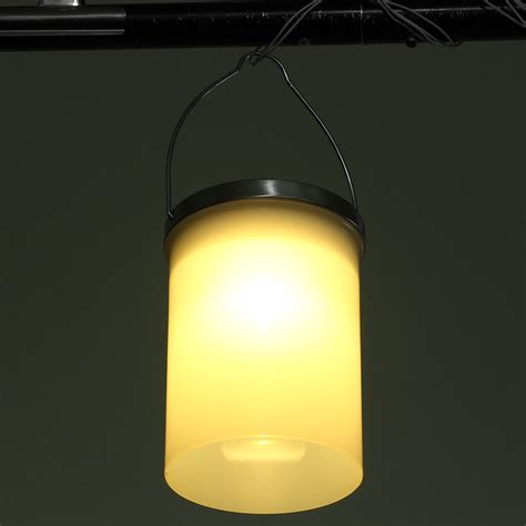 Hanging Led Lights Outdoor Solar Powered Hanging Cylinder Outdoor Light Led Landscape Lantern L 3 Color Ebay